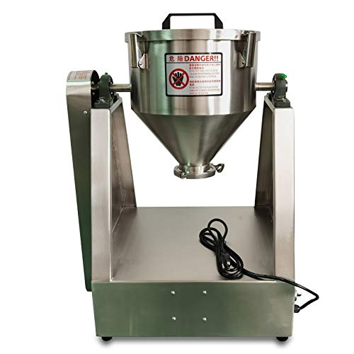 5KG Powder or Paste Materials Mixer,110V 5L Lab Dry Powder Mixer Mixing Machine,Particle Blender Powder Mixer,Granual Blender for Food Chemical Medical,Mixed Speed 33r / Min (Adjustable)