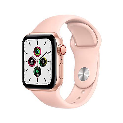 Apple Watch Se Cellular + Gps, 40 mm, Alumínio Dourado, Pulseira Esportiva Rosa - Myeh2be/a