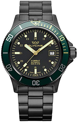 Combat Mens Analog Automatic Watch with Stainless Steel Bracelet GL0273