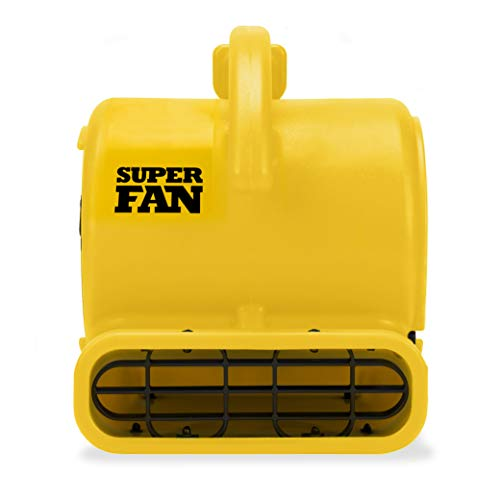 Soleaire Super Fan Home Personal Portable High Velocity Air Mover Floor Fan, Yellow