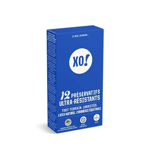 XO! - Caja de 12 preservativos de látex natural y veganos ultrarresistentes