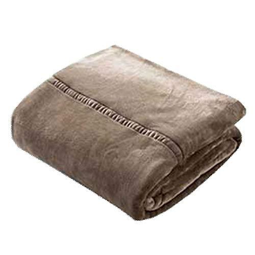 LIANG Manta de franela, de piel sintética, ligera, acogedora y cálida, tamaño individual o doble XL (color: marrón, tamaño: 200 x 230 cm)