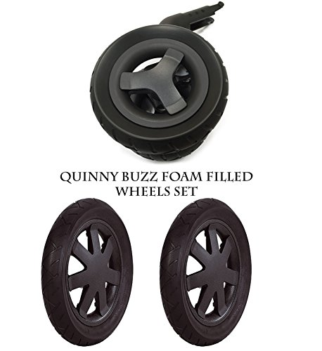 Quinny Buzz & # Dusche; schwarz Rollen wählen Sie 1x VORDERseite & 2x Rückseite Hinterrad 100% echtem