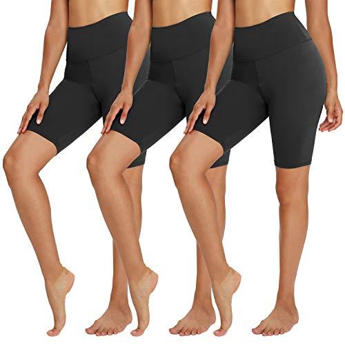 TNNZEET 3 Pack Biker Shorts for Women – 8  Buttery Soft High Waisted Yoga Cycling Workout Shorts