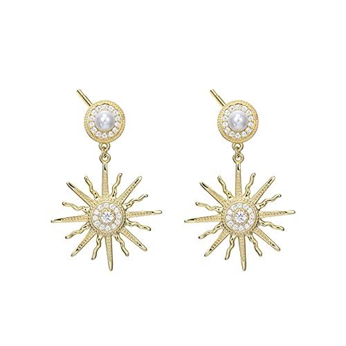 1 piercing para orejas para mujer con personalidad de lujo, colgante de estrella