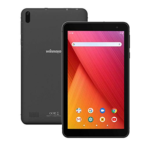 Tablet-PC 7-Zoll WiFi Android 9.0 - Winnovo T7 2GB RAM 32GB ROM HD IPS Display 5G WiFi GPS FM Bluetooth 4.0 Google Verified Metallrahmen (Schwarz)