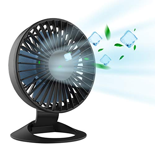 USB Desk Fan, Small but Mighty, Quiet Portable Fans for Desktop Office Table 40° Adjustment for Better Cooling, 3 Speeds, 4.9 ft Cord