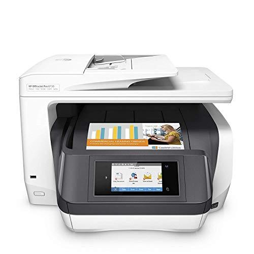 HP OfficeJet Pro 8730 AiO - Impresora multifunción (Inyección de tinta térmica, 200 x 200 DPI, 600 x 600 DPI, 1200 x 1200 DPI, A4, 216 x 356 mm), gris