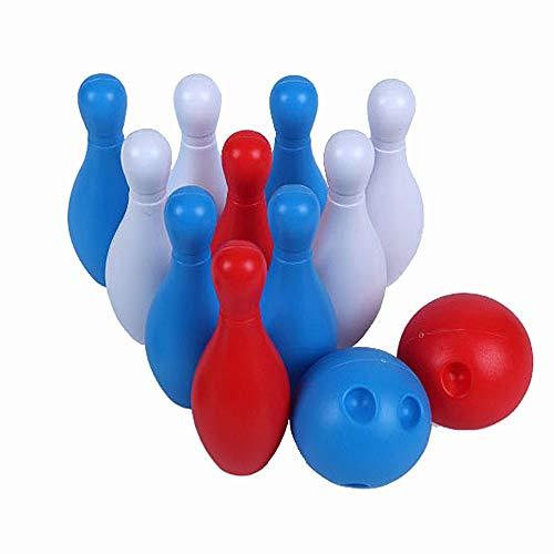 LULUVicky-Toys Bowling Spielzeug Soft Bowling Set für Kinder - 12-teiliges Spiel mit bunten nummerierten Stiften - Flexibles Spielzeug für drinnen oder draußen Bowling-Spiel für Kinder ab 3 Jahren