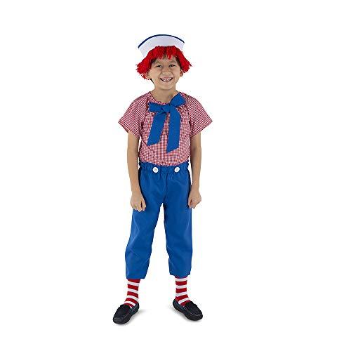 Dress Up America Rag Boy Costume Kostüme, Herren, Mehrfarbig Einzigartige Größe
