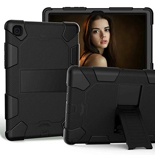 Samsung Galaxy Tab A7 T500 T505 T507 2020 10.4 inch,ATOOZ PC Holder Tablet Silicone Case, All-inclusive Anti-drop for Samsung Galaxy Tab A7 Cover (Black)