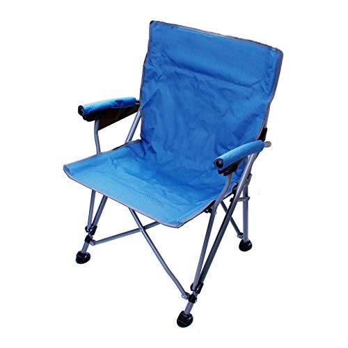 ZPWSNH Ultraportable Outdoor Klappstuhl Angelstuhl einfacher tragbarer Regiestuhl (60 x 62,5 x 93 cm) Klappstuhl blau
