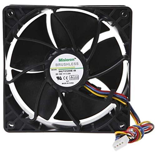 6500 RPM Fan for AntMiner D3/L3+/S9/T9/S7/X3/Z9 AsicMiner Misieren BRUSHLESS SHLF1212GHE-07, V12E12BS1B5-07
