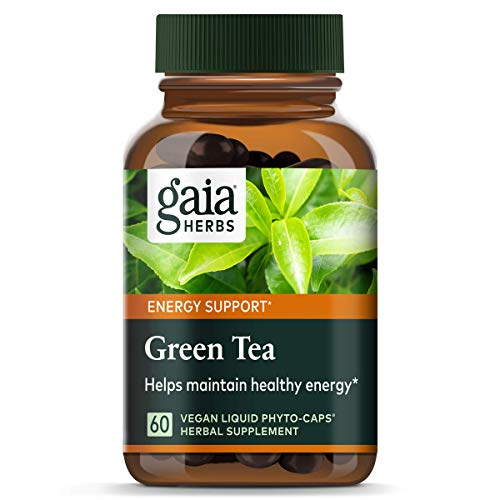Gaia Herbs Green Tea, Vegan Liquid Capsules, 60 Count - Antioxidant Support and Heart Health Supplement, Certified Organic Green Tea Extract