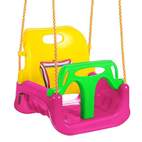 3-in-1 Secure Swing Seats High Back Playground Swing Set | Amazon