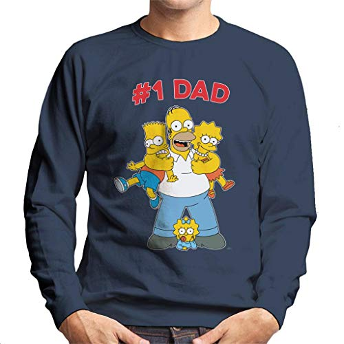 The Simpsons Cuddle Number One Dad Men's Sweatshirt