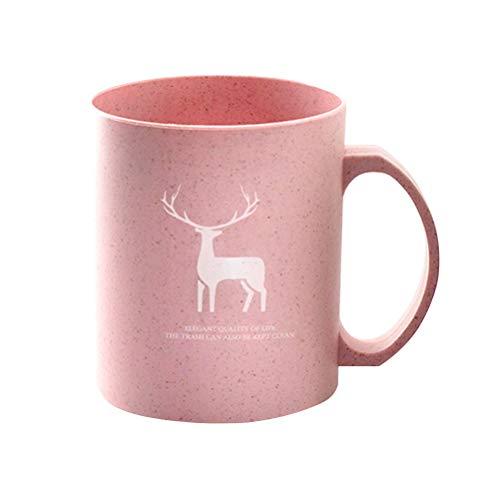UPKOCH 1 STÜCK Tasse Becher Zahnbürste Trinken Weizenstroh Umweltfreundlich Unzerbrechlich Kaffee Wasser Tee Milchsaft