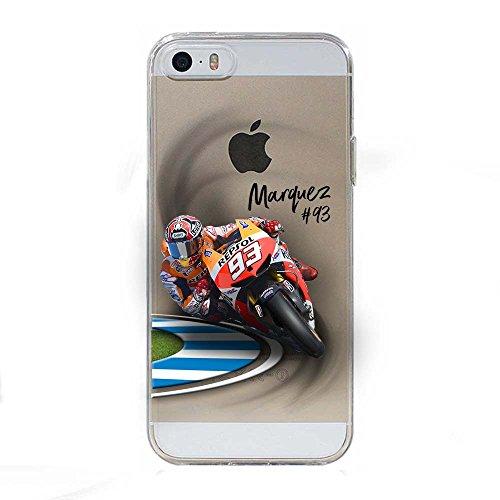 IP5 5S SE Cover TPU Gel Trasparente Morbida Custodia Protettiva, MotoGP Collection, Marc, iPhone 5 5S SE
