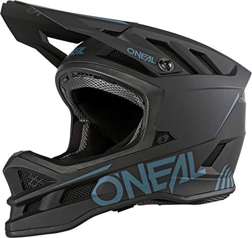 O\'NEAL | Mountainbike-Helm | MTB Downhill | Dri-Lex® Innenfutter, Ventilationsöffnungen für Luftstrom & Kühlung, ABS Außenschale | Blade POLYACRYLITE Helmet SOLID | Erwachsene | Schwarz | Größe M