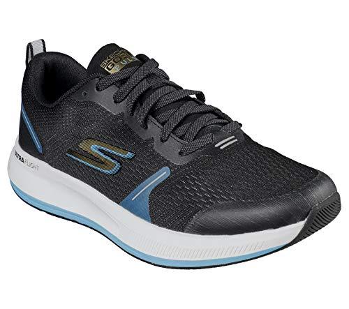 Skechers mens Go Pulse - Performance & Walking Running Shoe, Black/Blue, 12 US