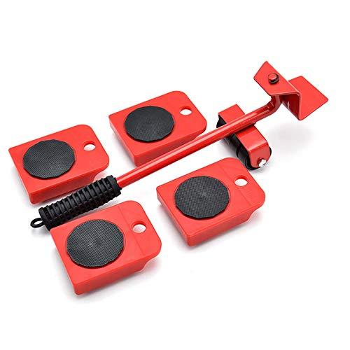 Juego De Herramientas para Mover Elevador De Muebles, Dispositivo De Elevación Pesado Portátil Fácil Y Sistema De Palanca Deslizante para Carga De Muebles Pesados 150 Kg