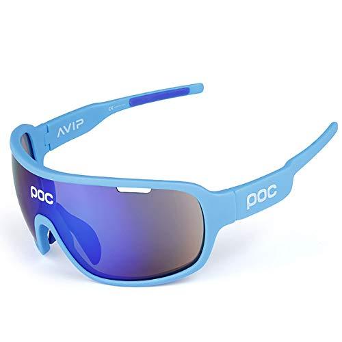 HUIHUAN zonnebril ultralichte gepolariseerde zonnebril voor mannen en vrouwen outdoor sportbrillen 100% UV-bescherming, blauw