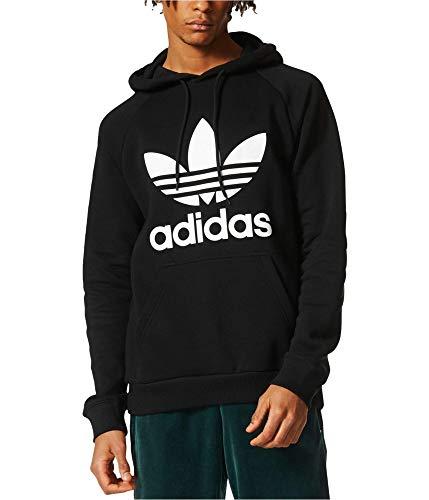 adidas Originals Men's Trefoil Hoody Sudadera, Negro/Blanco/Blanco, S para Hombre