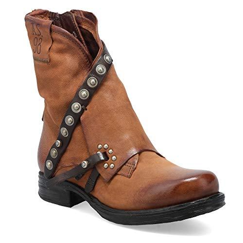 AIRSTEP/A.S.98 Saint EC Rivet Botines/Low Boots Mujeres Camel - 40 - Botas de caña Baja