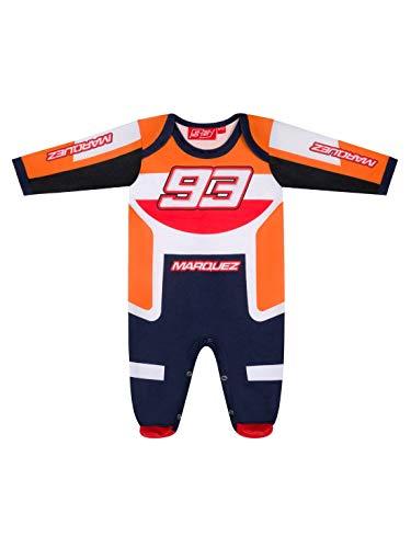 Marc Marquez 93 Multicolor Pijama Oficial de MotoGP - Naranja - 9/12 Meses