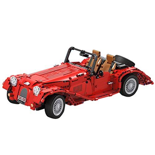 TETAKE Technik Oldtimer Roadster 3.7L Bausteine Bausatz, 1:10 Technic Klassische Autos Modellbausatz, 1100 Klemmbausteine