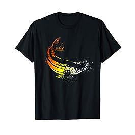 Pêcheur cadeaux pêche | Silhouette de poisson carpe | Pêche T-Shirt