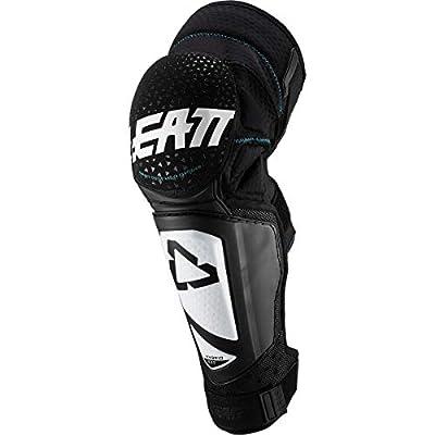 Leatt 3DF Hybrid Ext Adult MTB Cycling Knee & Shin Guard - White/Black/Large/X-Large