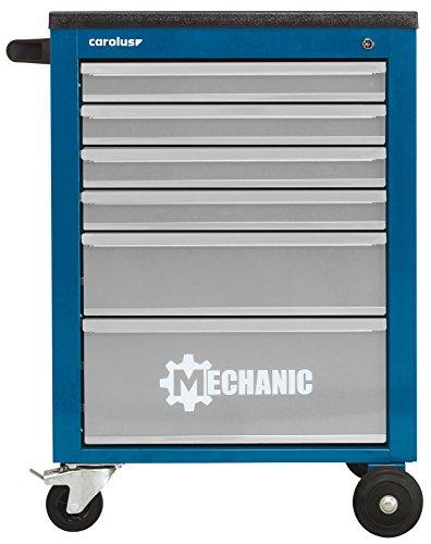 CAROLUS 2046.2 2046.20 Werkstattwagen Mechanic, 6 Schubladen, blau/lichtgrau