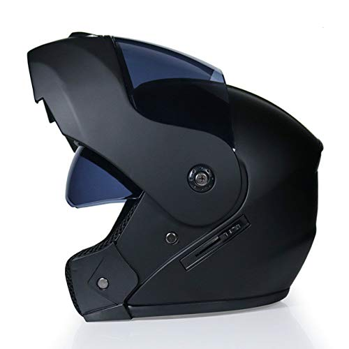IAMZHL 2020RennhelmModularer Doppelobjektiv-MotorradhelmKlapphelm Helme Casco Capacete Casque Moto S.-Matte black2-M