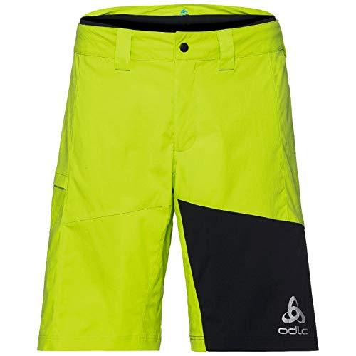 Odlo Shorts MORZINE Element with Inner Brief Homme, Acid Lime-Black, XL