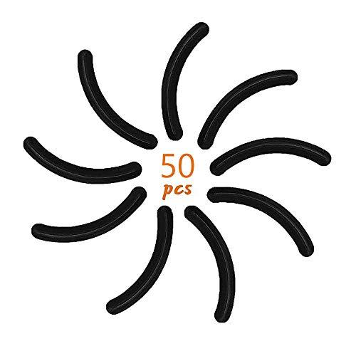 50 Stück Wimpernzange Schwarz, Werkzeug-Wimpernzange, Ersatzgummis, Wimpernzange pads, für...