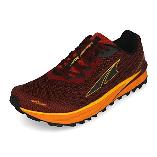 ALTRA Men's AL0A4PE9 TIMP 2 Trail Running Shoe, Dark Red/Orange - 12 M US