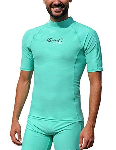 iQ-UV Herren UV 300 Slim Fit Kurzarm T-Shirt, grün (grün), S (48)