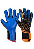 Reusch Pure Contact 3 S1 - Guanti unisex da adulto, nero/arancione/blu, taglia L