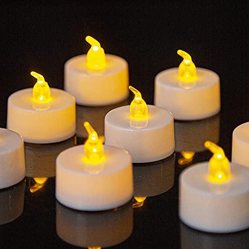 Velas LED, 36 piezas Velas Parpadeantes sin Llama, Velas LED Sin Fuego con Pilas, Velas de LED Decorativas con Efecto Llama, Luces de Velas Eléctricas para Navidad, Pascua, Boda, Fiesta, Restaurante
