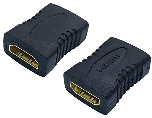 AAOTOKK HDMI Adapter Vergoldeter 19 Poliger HDMI Weiblich auf Weiblich Koppleranschluss für TV-Stick, Roku-Stick, Chromecast, Blu-ray-Player, Xbox, PS4, PS3, Laptop, PC (2 Stücke-F/F)