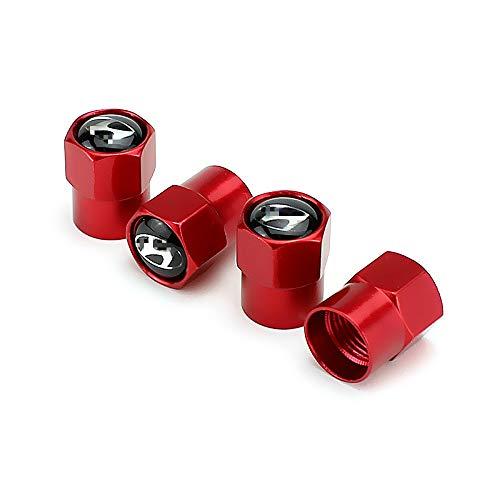EVPRO 타이어 밸브 스템 캡 4 팩 레드 현대 액세서리에 적합