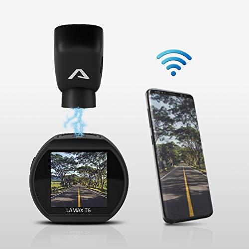 LAMAX T6 GPS WiFi Mini Dashcam AutoBild empfohlen Auto Kamera - Videoregistrator Für Auto - Kompakte Autokamera Dash Cam Full HD mit GPS, Nachtsicht, WDR, G-Sensor und Parkmodus