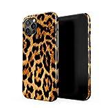 Leopard Fur Pattern Dünne Handy Schutzhülle Hardcase Aus