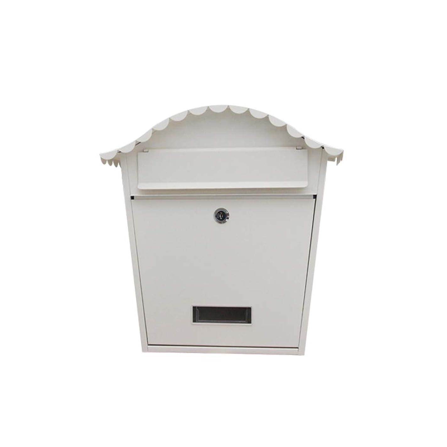 識別礼儀モンゴメリーHZBc ヴィラメールボックス屋外の郵便箱ヨーロッパの吊り壁屋外防水新聞ボックス、壁の装飾、シャンウェンホワイト