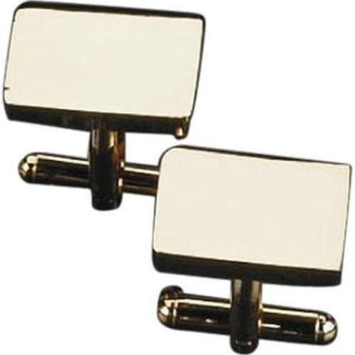 Gold Plated Cufflinks, Rectangular. tarnish proof