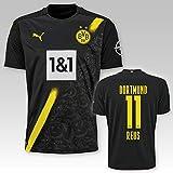 PUMA BVB Auswärtstrikot Erwachsen Saison 2020/21, Größe:L, Spielername:11 Reus