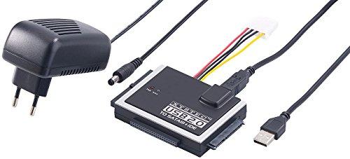 Xystec Festplattenadapter: Universal-Festplatten-Adapter für IDE/SATA auf USB 3.0, inkl. Netzteil (Festplatten Lesegerät)