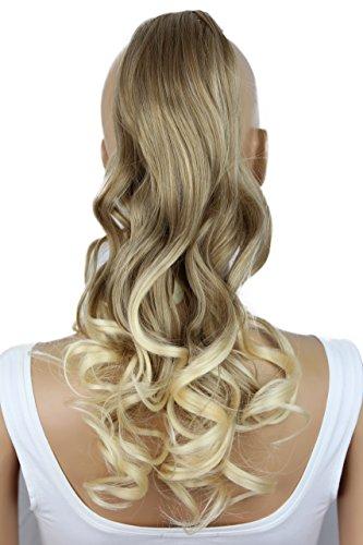 PRETTYSHOP 50cm Haarteil Zopf Pferdeschwanz Haarverlängerung Gewellt Dunkelblond Mix HC26-1