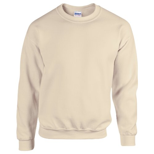 Gildan Herren Sweatshirt, Sand, XXL